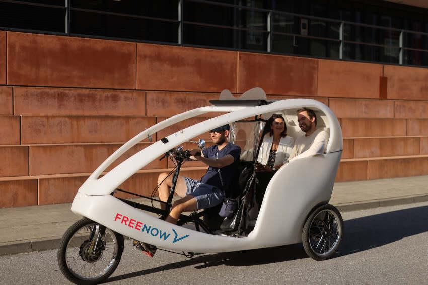 Fahrrad-Taxis in vier deutschen Städten